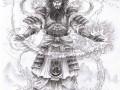 Мифический демон-самурай